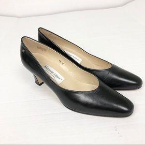 Etienne Aigner Black leather heels size 9.5
